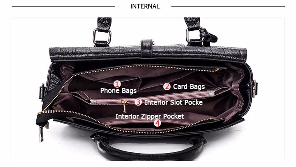 High Quality PU Leather Women's Handbags Shoulder Bag Ladies Hand Bags Stone Casual Women Bag Large Capacity Handbag 17 Sac 5