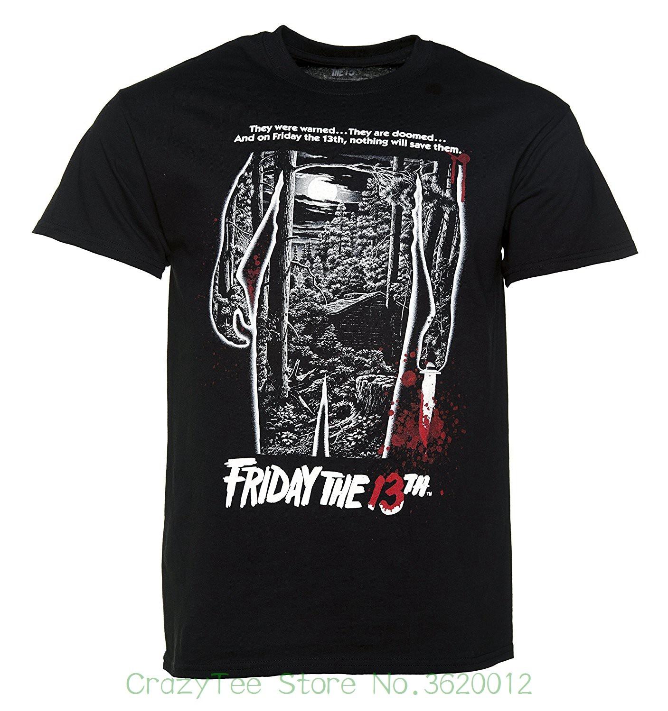 2018 Summer New Brand T Shirt Men Hip Hop Men T-shirt Casual Fitness Mens Black Friday 13th Bloody Poster T Shirt