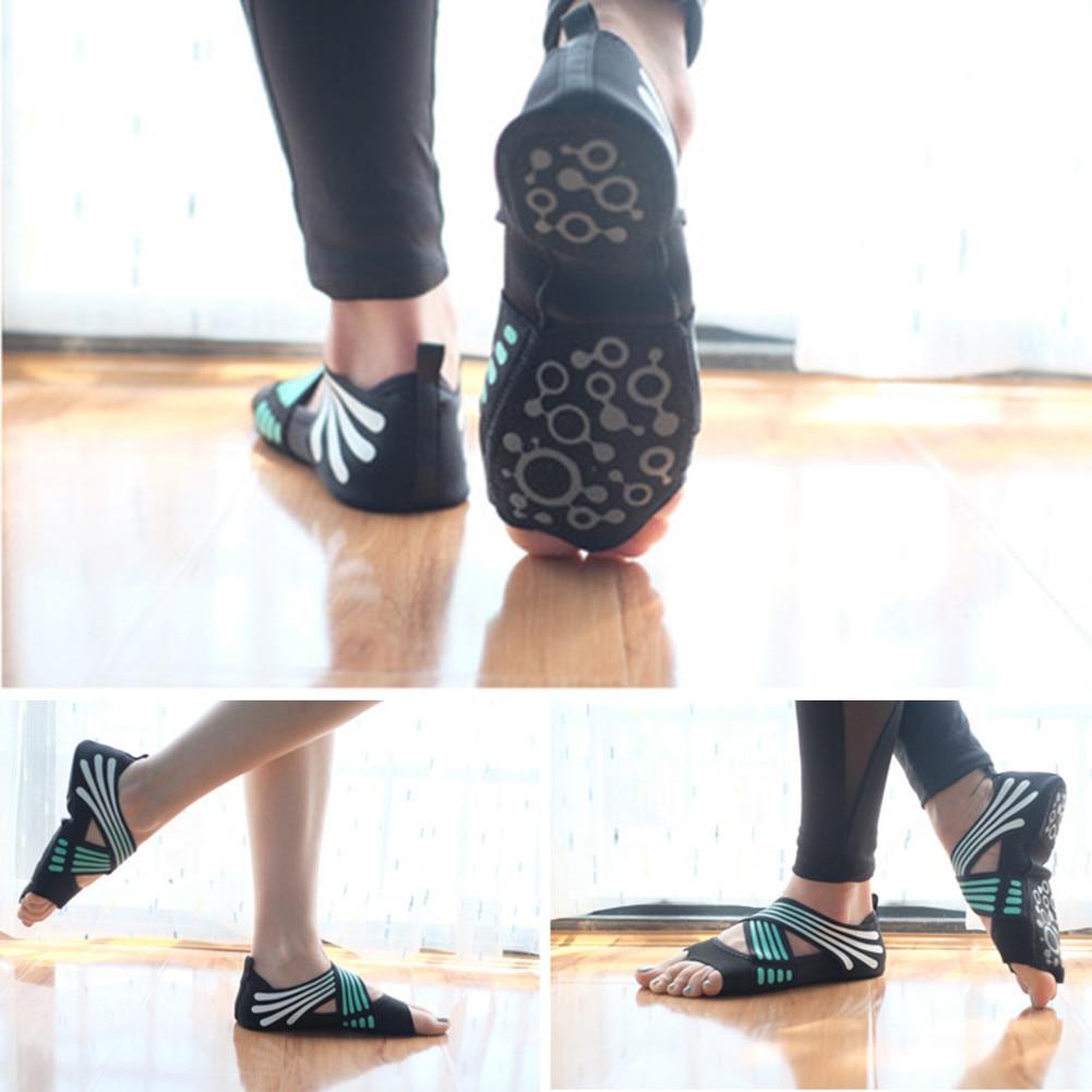 Toning-schuh Frauen Nicht-slip Fitness Dance Pilates Socken Professionelle Innen Halb Zeh Yoga Schuhe Neopren Pilates Ballett Tanzen Socken