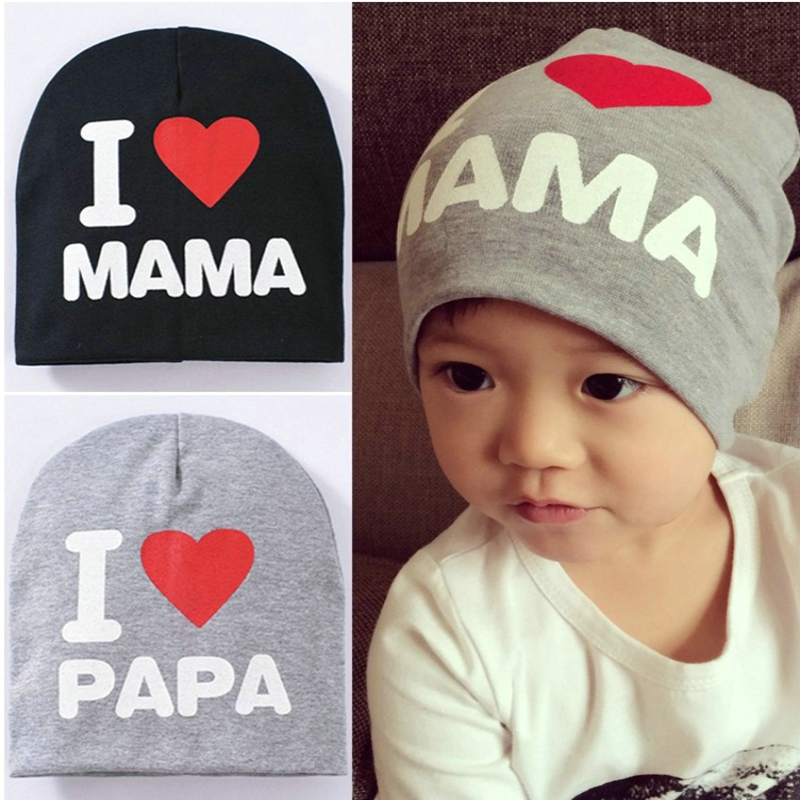 Baby Cap I Love MAMA or PAPA Knit Hat for Kids Infant Boys Girls Children  Beanie I Love Mom Toddler Stocking Caps-in Hats   Caps from Mother   Kids  on ... 9945e1954bd