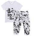 Summer Baby Newborn Toddler Boy Clothes Set Girl Clothes Soft Comfortable T-shirt + Pants 2 Pcs