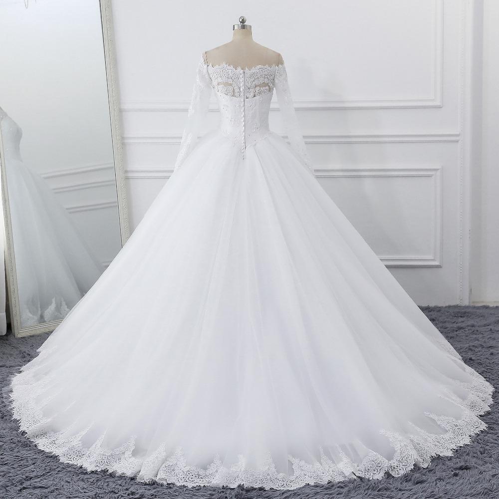 Lover Kiss Vestidos de Noiva Ball Gown Wedding Dress Long Sleeves Wedding Dresses Tulle Vestido de Noiva Casamento Mariage Boda 3