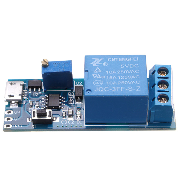 5V-30V Wide Voltage Trigger Delay Timer Relay Conduction Relay Module Time Delay Switch