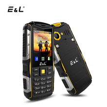 E & L S600 IP68 Teléfono Móvil 2G GSM Desbloqueado Doble Tarjeta Sim a prueba de Choques Impermeable Teclado Del Teléfono 2000 mAh Radio FM Altavoz