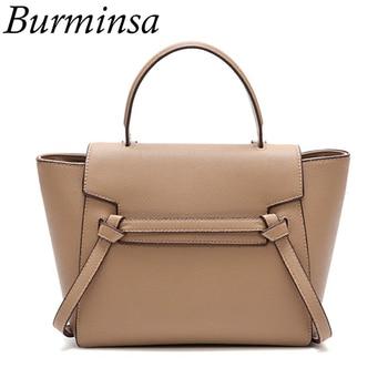 Burminsa Ladies Tote Bags Designer Handbags High Quality Messenger Bags Fashion Grained PU Leather Shoulder Bags For Women 2018 Сумка