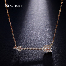NEWBARK Love Cupid s Arrow Necklaces Pendants Trendy Vintage Necklace Cute Tiny Cubic Zirconia Paved Collares