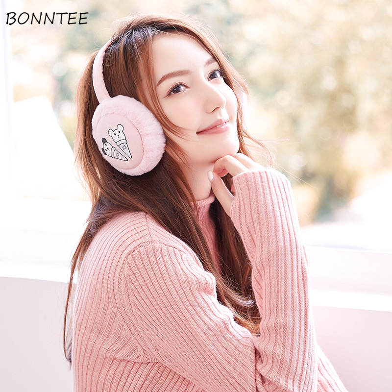Earmuffs Unisex 2019 Students Plus Velvet Sweet Cotton Plush Ear Warmers Korean Style Winter Warm Leisure Earmuff Antifreeze