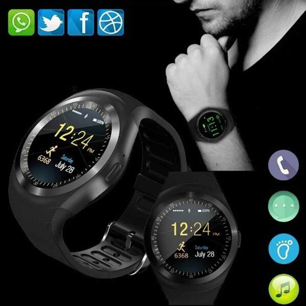 Waterproof Bluetooth smart watch Y1 Android smart watch GSM phone call Sim camera remote information display sports pedometer