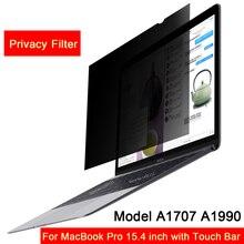 Для // MacBook Pro 15,4 дюймов с сенсорной панелью модель A1707 A1990, Фильтр конфиденциальности экрана Защитная пленка(342 мм* 223 мм