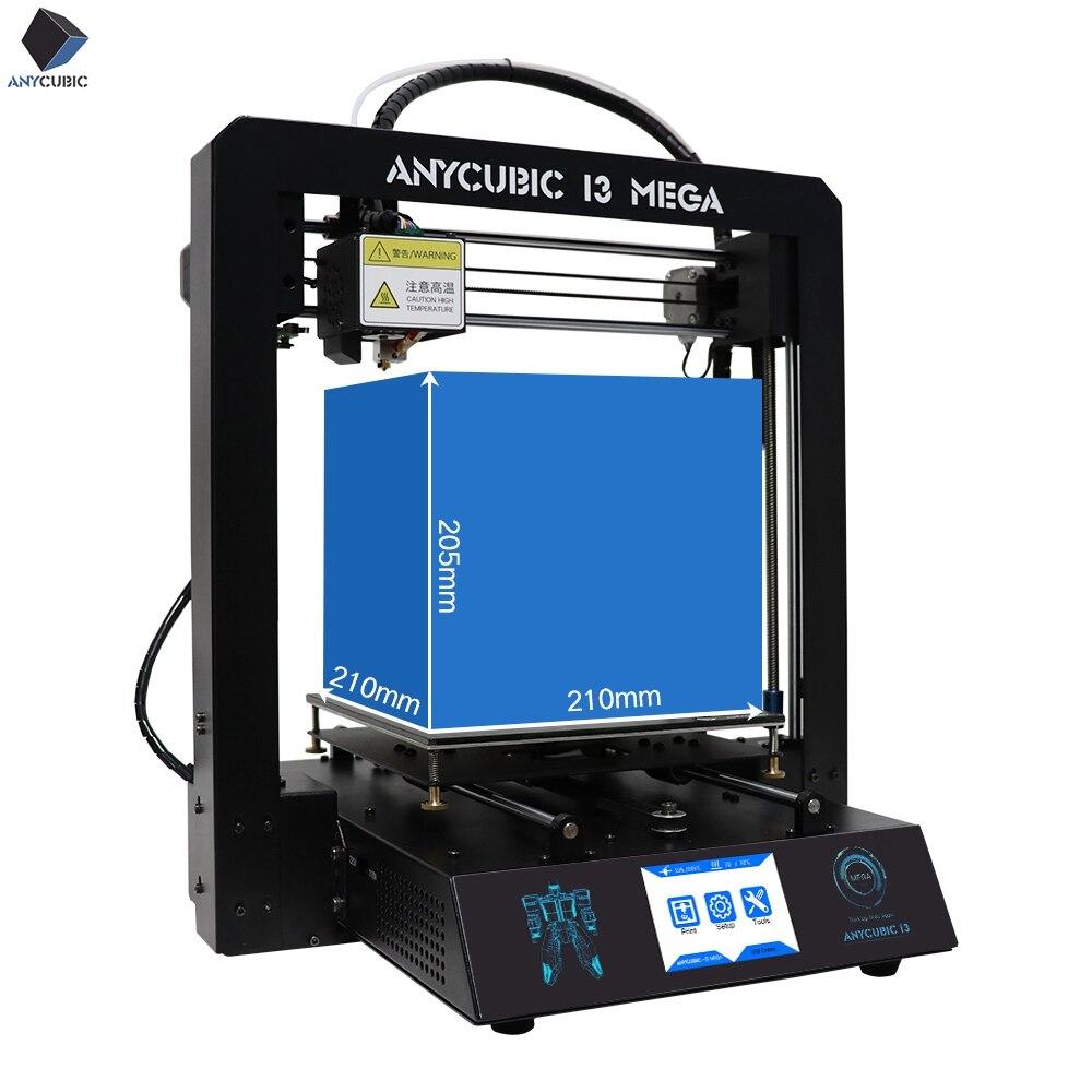 3-d-drucker Hell 2018 Neue Anycubic I3 Mega 3d Drucker 3d Print Kits Teile Billig Plus Größe Volle Metall Touch Screen 3d Drucker 3d Drucker Impresora