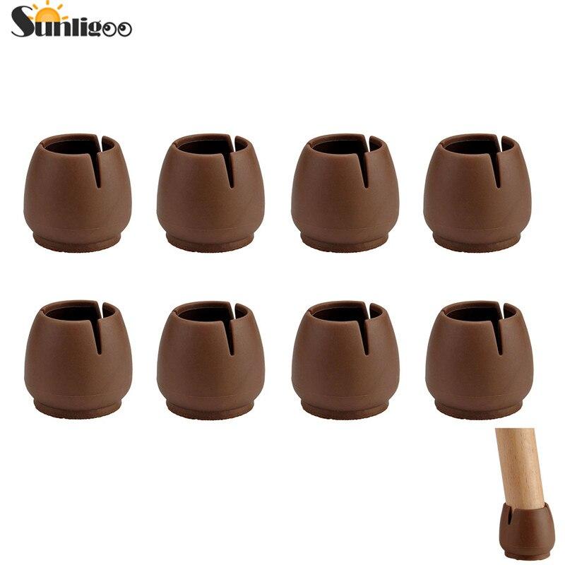Sunligoo Transparent Chair Leg Caps Anti-slip Prevent Scratches Square Silicone Table Fu ...