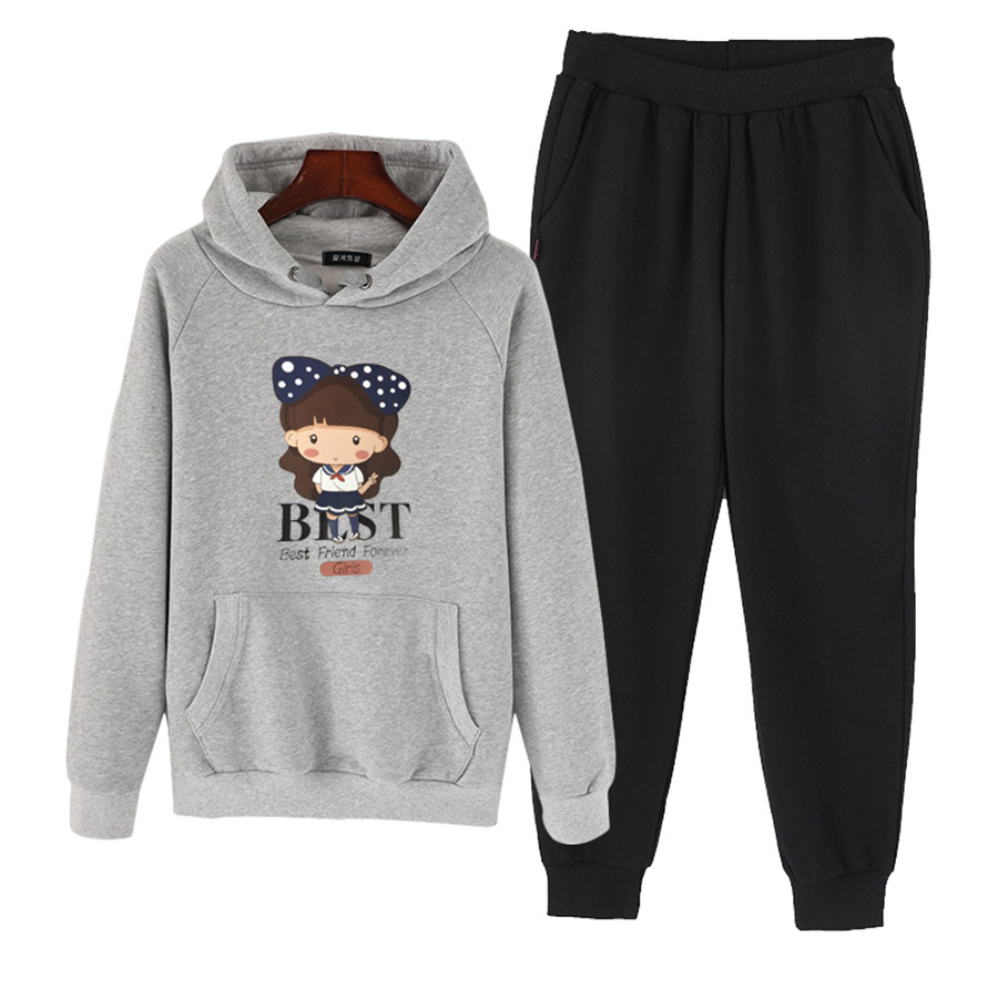 Baby Girls Clothes Autumn winter teenage girl Clothing Set Cotton Clothes Suit (T Shirt+Pants) Cartoon teen Clothes Set FG-22