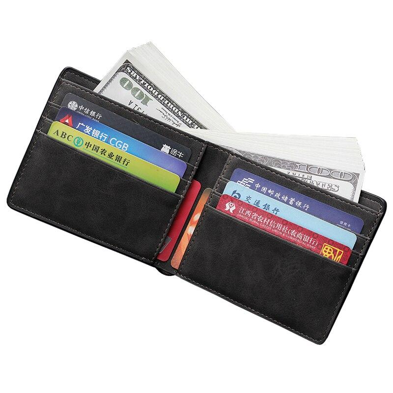 Paspoort Portemonnee.Mannen Portemonnee Business Card Credit Card Holder Id Bestand
