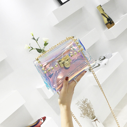 Yuhua, 2019 new fashion woman handbags, trend messenger bag, Korean version women shoulder bag, laser composite bag.