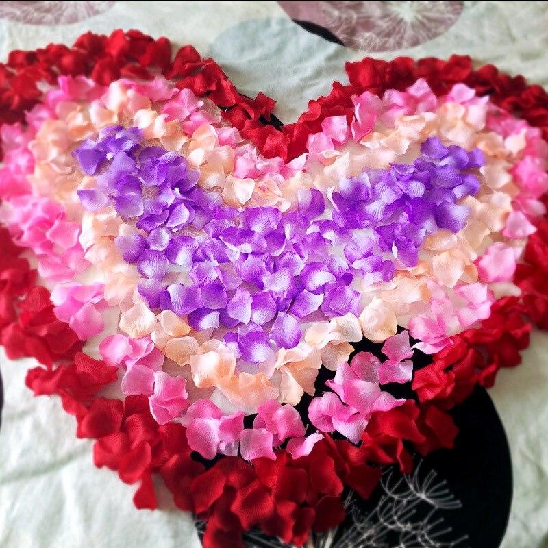 1000pcs artificial silk rose flowers petals party wedding decor festival romantic rose flower