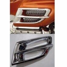 2x Хром Передняя Воздуха Вентиляционные Вытяжные Планки Для Honda GL 1800 Goldwing 2006 2007 2008 2009 2010 2011 [PA389]