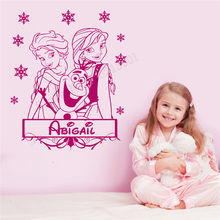 Wall Decoration Girl Beautiful Room Decorative Cute Modern Fashion KIdsroom Poster Personalized Name Ornament LY287