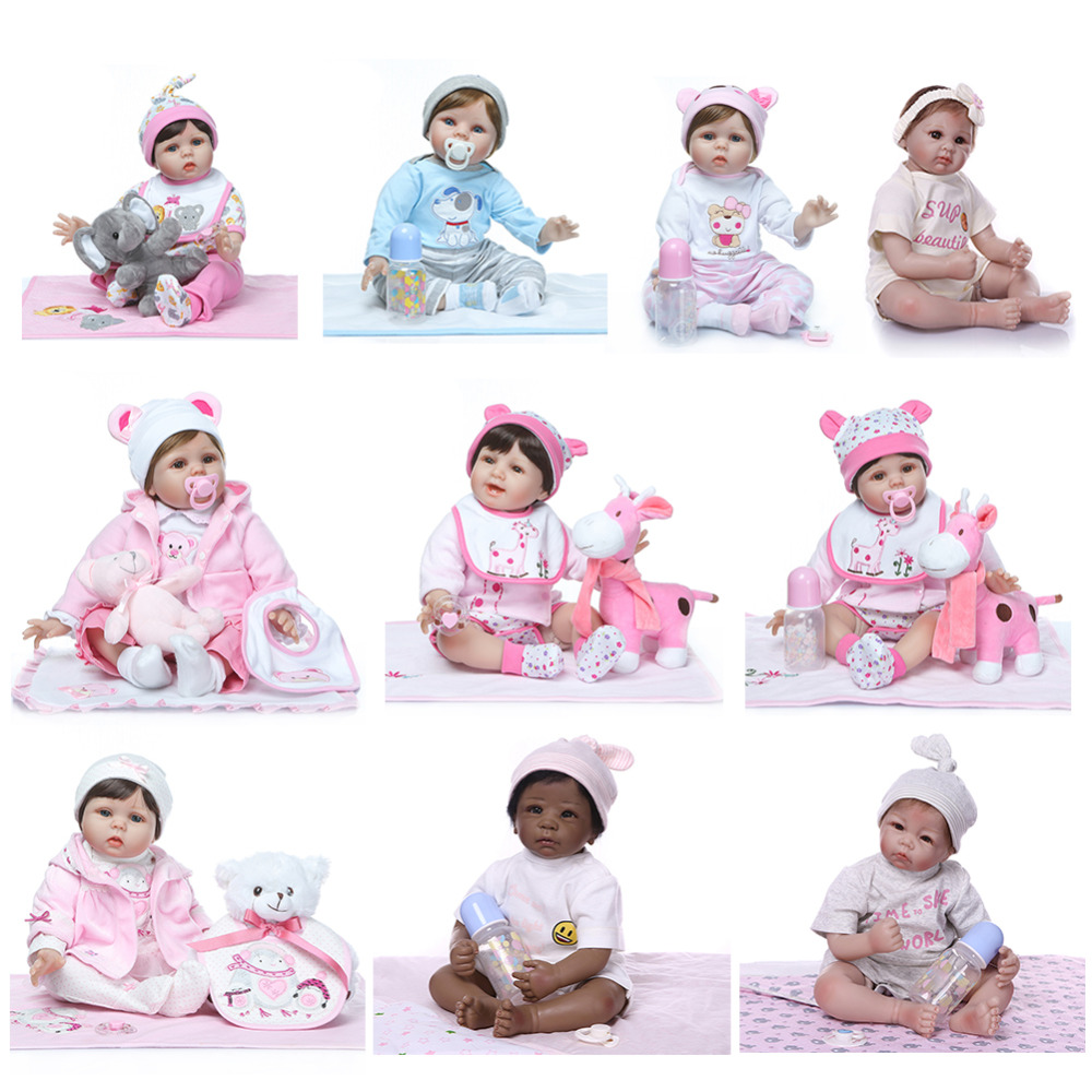 NPK Newborn Reborn Baby Dolls Silicone Cute Soft Simulation Doll Toy for Kids Gift Decors