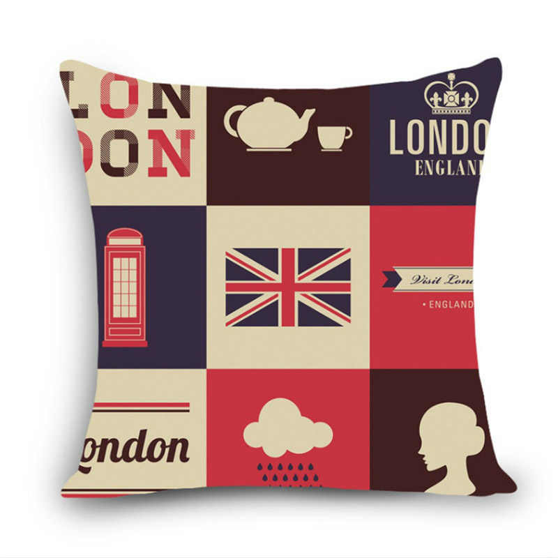 Pillowcase London Style Cushion Cover British Soldiers Pillow Case British Flag Square Linen Pillow Covers Home Decorative 45 45 Cushion Cover Aliexpress