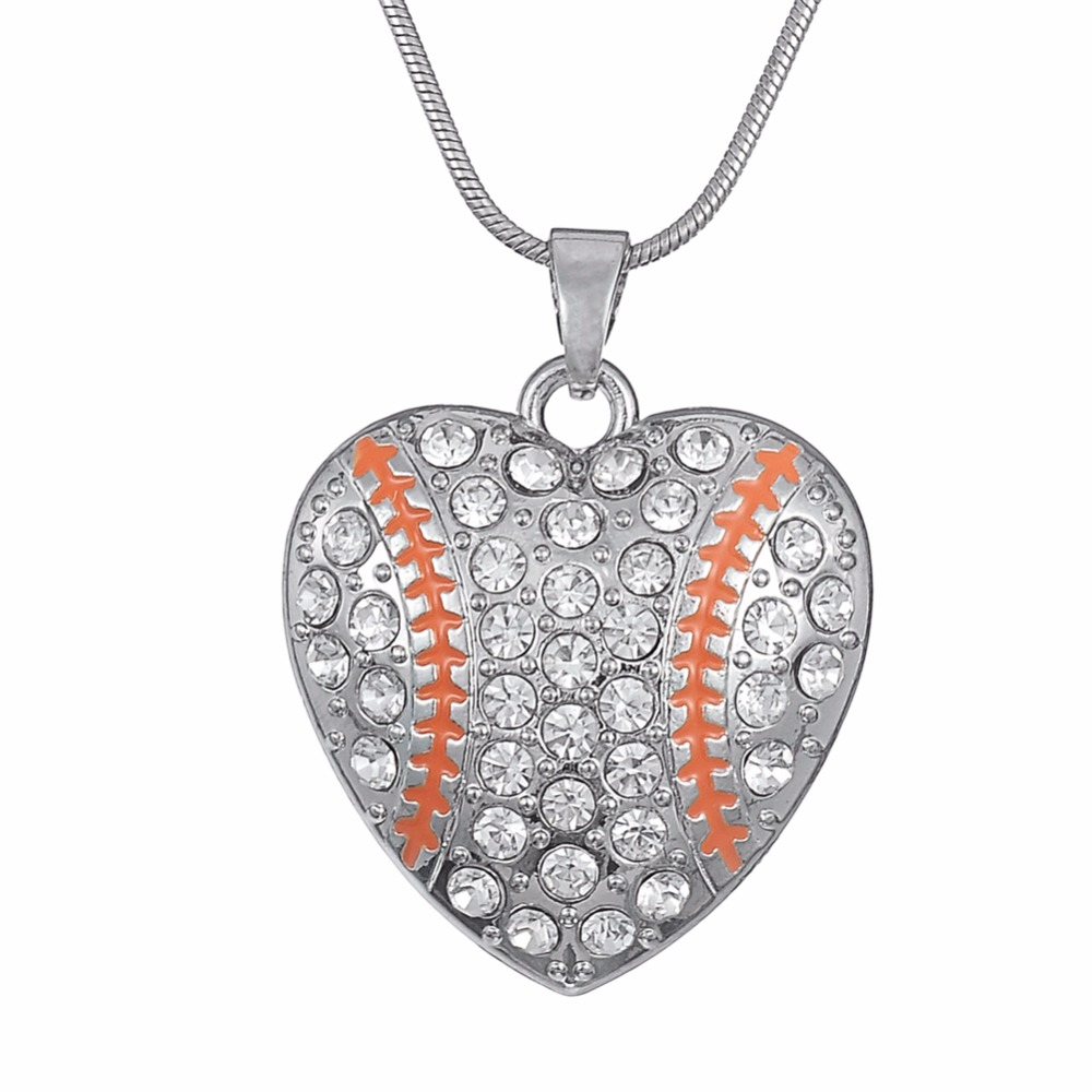 gifts pin pendant softball jewelry necklace charm