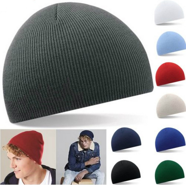3040403074607 Winter hats solid Pinstripe short style fashion cap men hats outdoor sport  ski cap beanies women hats warm wool knitted Hat