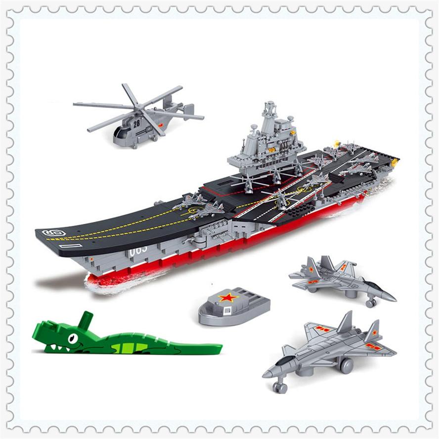 1059Pcs Building Block Compatible Legoe Toys Military Carriers Aircraft Warship SLUBAN B0399   Gift For Children jjg 1059 2010