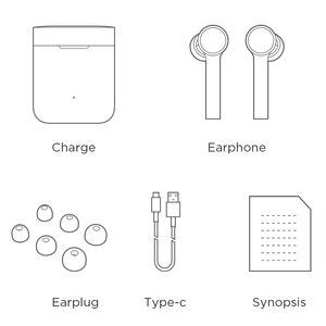 Image 5 - سماعات أذن أصلية من شاومي Mi Air تعمل بتقنية البلوتوث سماعات أذن لاسلكية حقيقية تعمل باللمس مع صندوق شحن سماعات أذن لاسلكية سماعات أذن برو