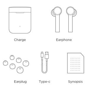 Image 5 - Оригинальные наушники Xiaomi Mi Air Bluetooth, настоящие Беспроводные наушники с сенсорным управлением, с зарядным устройством, беспроводная гарнитура AirDots Pro