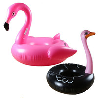 Inflatable Flamingo Swimming Ring Giant Pool Float Mattress Mat Circle Pool Inflatable Toys Swim Ring Seat Boat Raft
