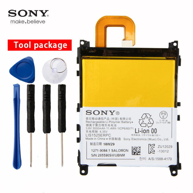 Original Sony High Capacity Phone Battery For SONY Xperia Z1 C6902 C6903 L39h 3000mAh LIS1525ERPC