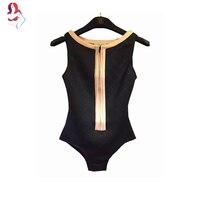 UCHIHA LQ Model Style 2017 New Sexy Temperament Chest Zipper Bikinis Women Swimsuit Brazilian Biquini Sete