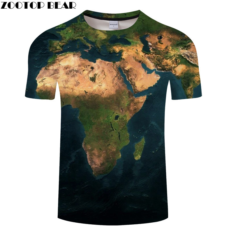 Ocean World Map 3D Print t shirt Travel tshirt Summer Men Vacation Tee Funny Short Sleeve Shirts Streetwear Dropship ZOOTOPBEAR