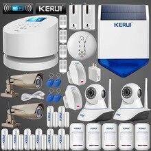 Оригинал KERUI GSM PSTN Беспроводной Домашней Безопасности Системы smart сигнализация + 1080 P БЕСПРОВОДНОЙ Внешний ip-камера + RFID клавиатура + сирена, строб