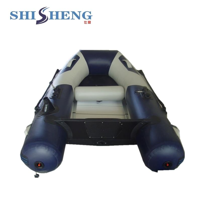 Petit bateau gonflable avec plancher en aluminium