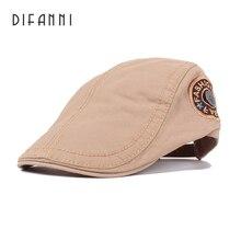 Difanni модный однотонный берет кепки sway кепки шапки для мужчин и женщин кепки с козырьком от солнца Gorras Planas плоские кепки-береты