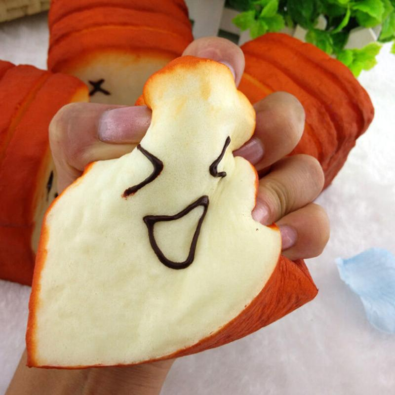 8 cm*8 cm*6.5 cm Bread Jumbo Toast Expression Card Cellphone Holder Hand Pillow Toy Bag Hanger