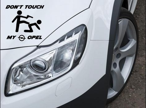 Don T Touch My Opel Aufkleber Sticker Astra Gsi Motorsport Sport Mind Decal 12x10cm