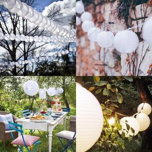 """Image 4 - 30 adet 4 """" 12"""" beyaz kağıt fener çin lanterne kağıt lamba düğün parti cadılar bayramı noel olay asılı dekorlar favor"""