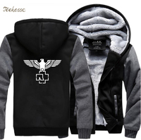 Heavy Metal Music Rock Punk Hip Hop Band Hipster Hooded 2018 Winter Sweatshirts Warm Fleece Zipper Thick Tracksuit Hoodies Men's