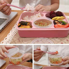 5/4/3 Grid Healthy Material Lunch Box PP Leak-Proof Bento Child Lunch Boxe Microwave Dinnerware Food Storage Container Lunchbox