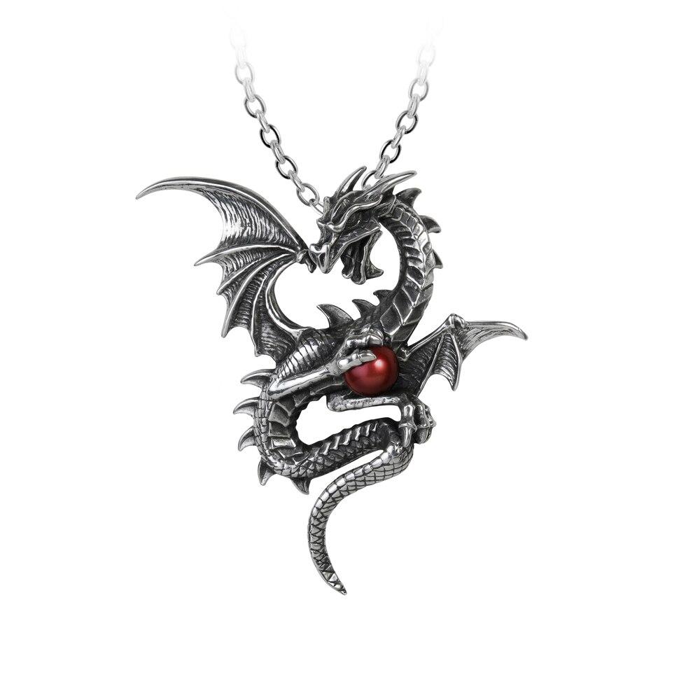 Femmes Punk Long collier mode Howllow Out Dragon métal zodiaque pendentif chaîne bijoux femme à la main déclaration grand pendentif