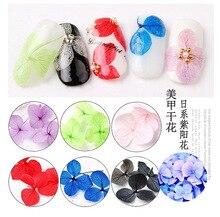 цены 12 color purple sun flower 3D diamond nail art Artificial flower dressing Plain nail decoration rhinestones for nails