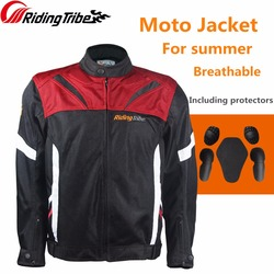 Riding Tribe Motorcycle Men's Jacket Summer Breathable Protector For Motocyclist Moto Rider Motorbike Clothing Body Guards JK-38