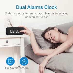 Image 2 - HAVIT Bluetooth Speaker Portable Home Loudspeaker with Digital Alarm Clock 3D Stereo Enhanced Bass Speaker Support FM Radio M29