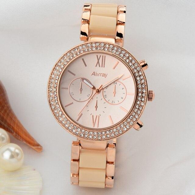 Women Business Wrisches Fashion Alloy Rose Gold Quartz Watch Real Waterproof Wrisch With Luxury