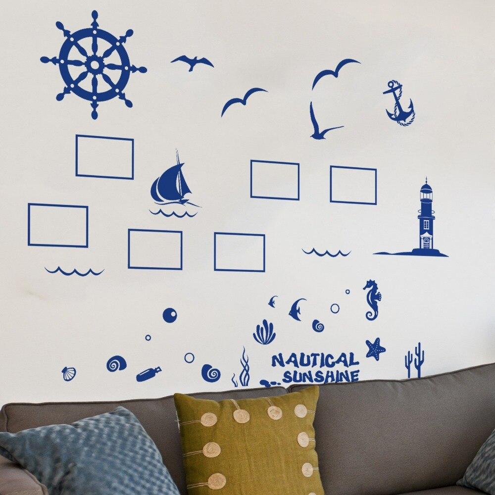 Aliexpress.com : Buy Creative Wall Stickers Mediterranean Photo Wall ...