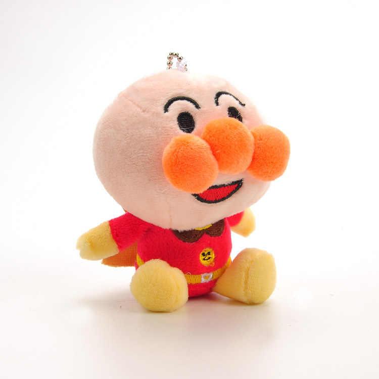 Animación japonesa Anpanman baikinman Kawaii 10 CM juguetes de peluche suave muñecas de peluche llavero colgante regalo de cumpleaños