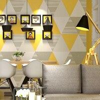 Korean Wallpaper Blue Geometric Graphics Modern Minimalist Abstract Nordic Living Room Bedroom TV Background Wallpaper