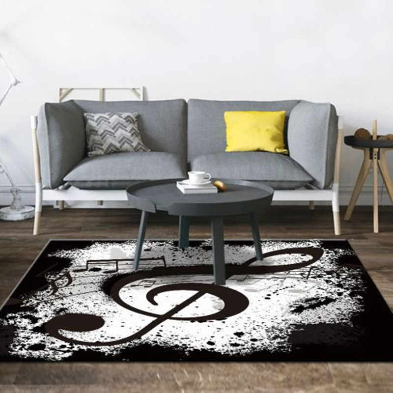 Music Printed Living Room Carpet Nordic Bedroom Area Rugs Sofa