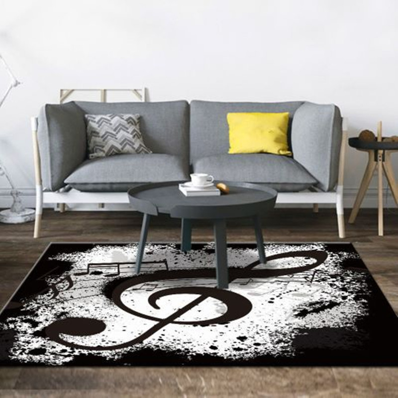 Music Printed Living Room Carpet Nordic Bedroom Area Rugs Sofa Table Rug Study Room Large Size Floor Mat Kids Decor Soft Carpets